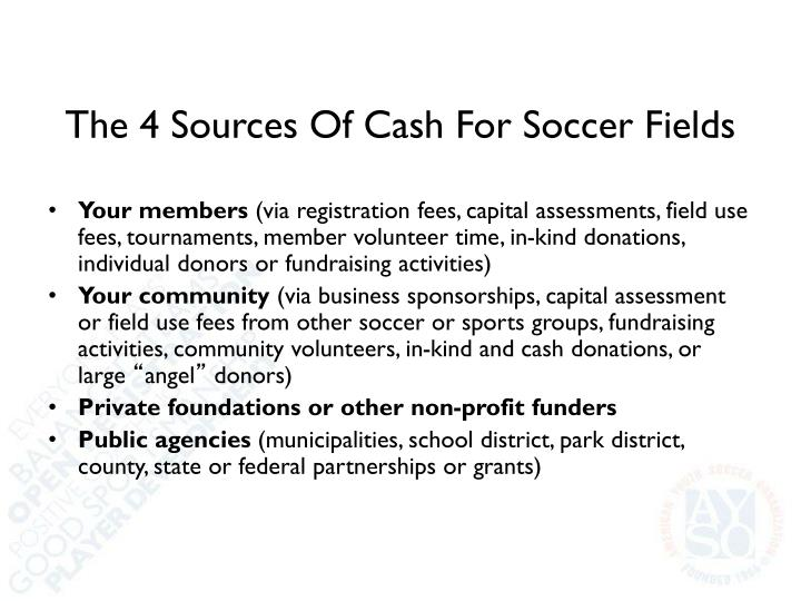 The 4 Sources Of Cash For Soccer Fields