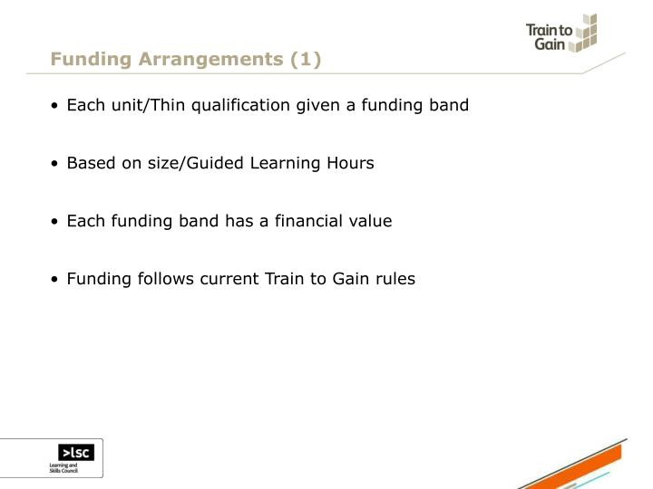 Funding Arrangements (1)
