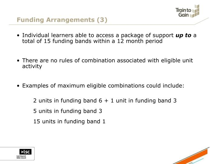 Funding Arrangements (3)