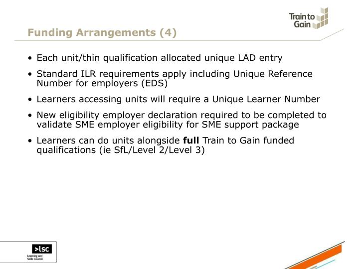 Funding Arrangements (4)
