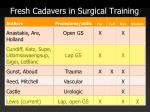 fresh cadavers in surgical training2