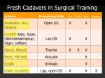 fresh cadavers in surgical training3