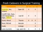 fresh cadavers in surgical training5