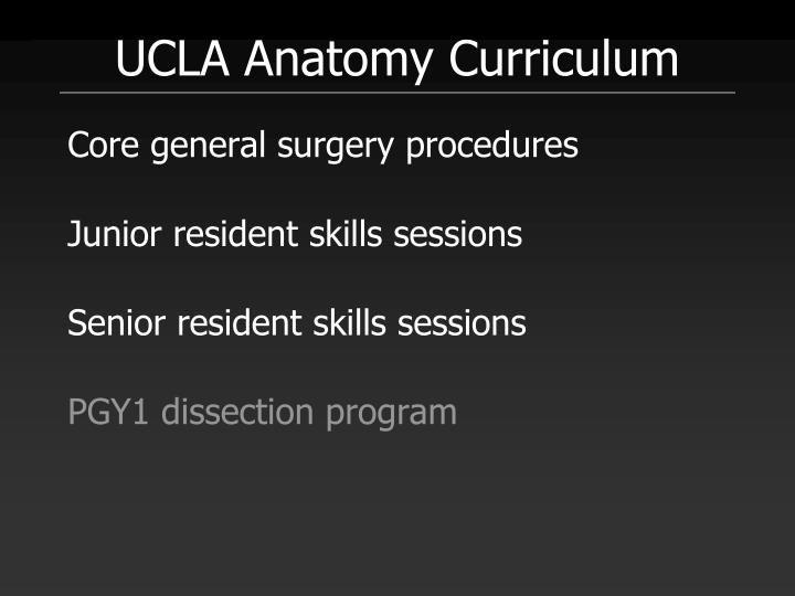 UCLA Anatomy Curriculum