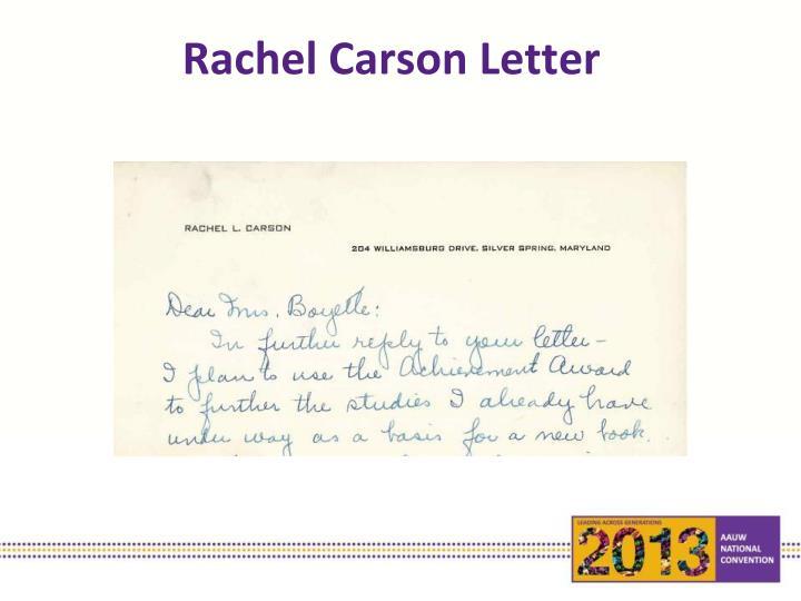 Rachel Carson Letter