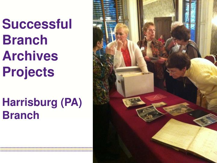 Successful Branch Archives Projects