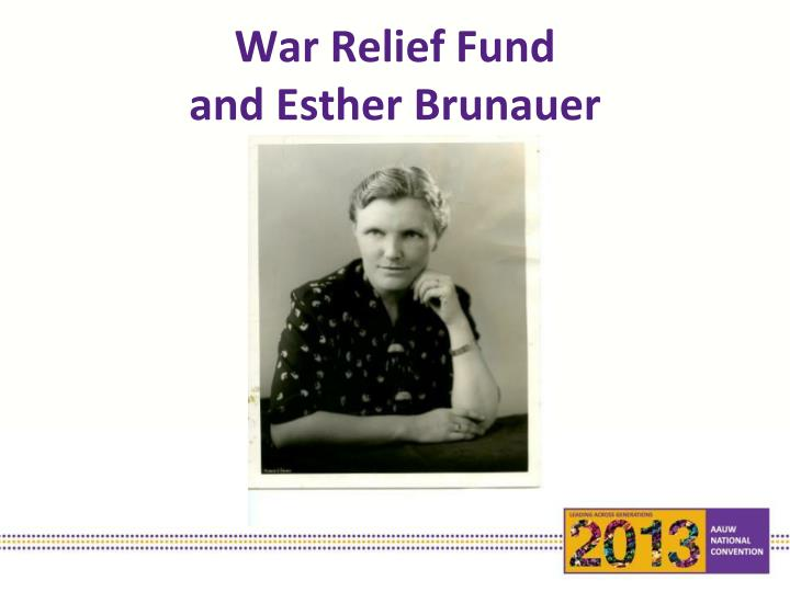 War Relief Fund
