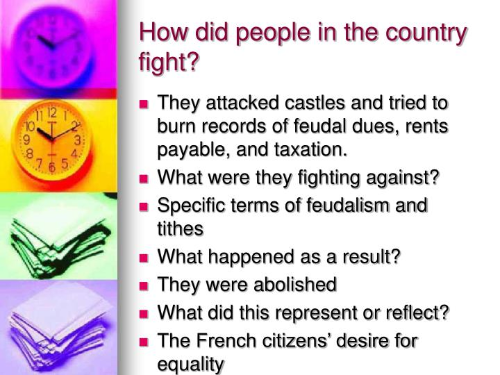 How did people in the country fight?