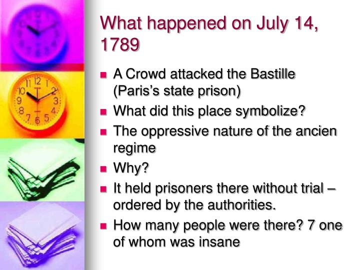 What happened on July 14, 1789