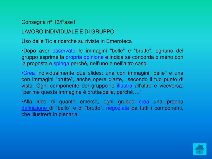 Consegna n° 13/Fase1