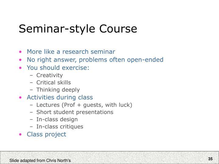 Seminar-style Course