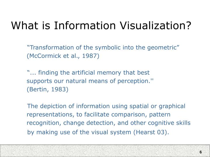 What is Information Visualization?