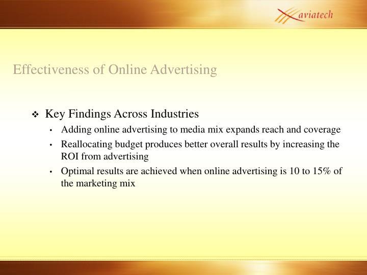 Effectiveness of Online Advertising