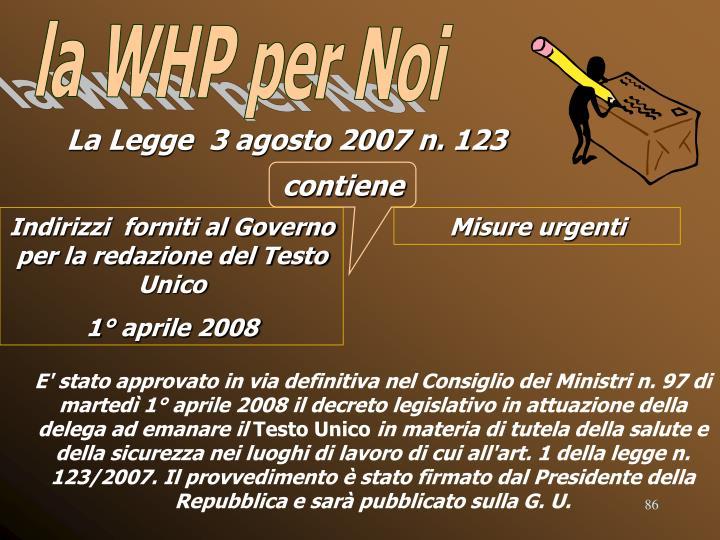 la WHP per Noi