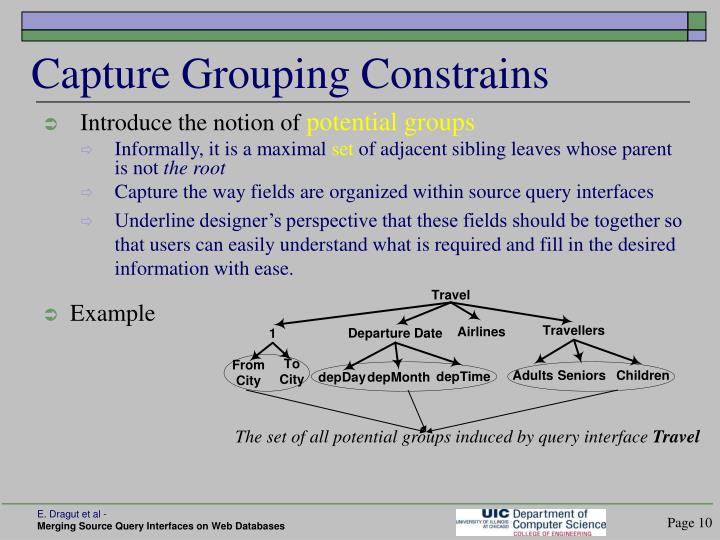 Capture Grouping Constrains