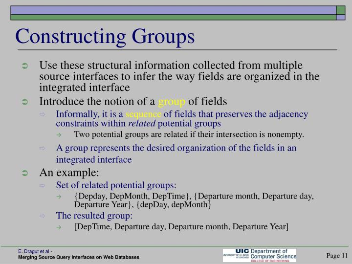 Constructing Groups