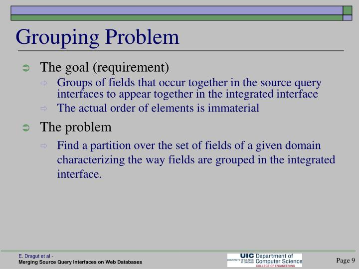 Grouping Problem