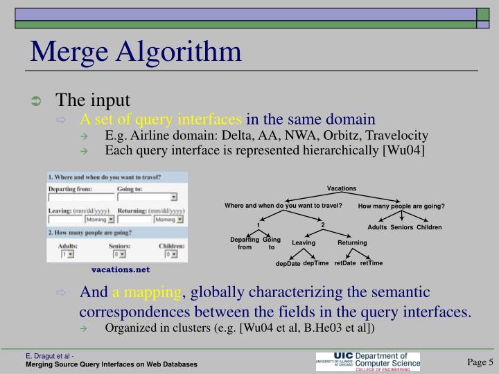 Merge Algorithm