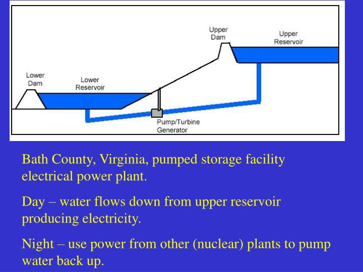 Bath County, Virginia, pumped storage facility     electrical power plant.