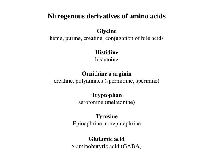 Nitrogenous derivatives of amino acids