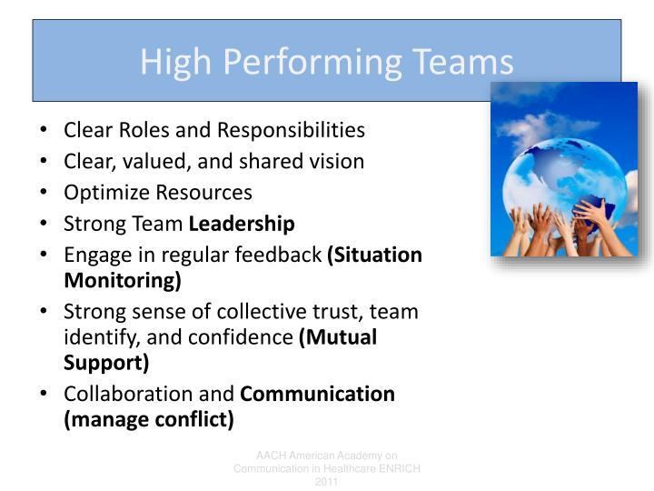 High Performing Teams