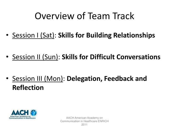 Overview of Team Track