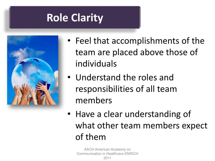 Role Clarity