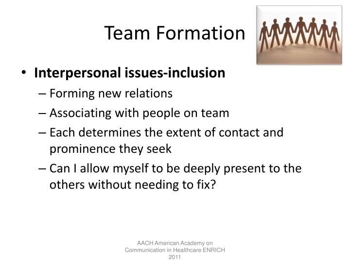 Team Formation