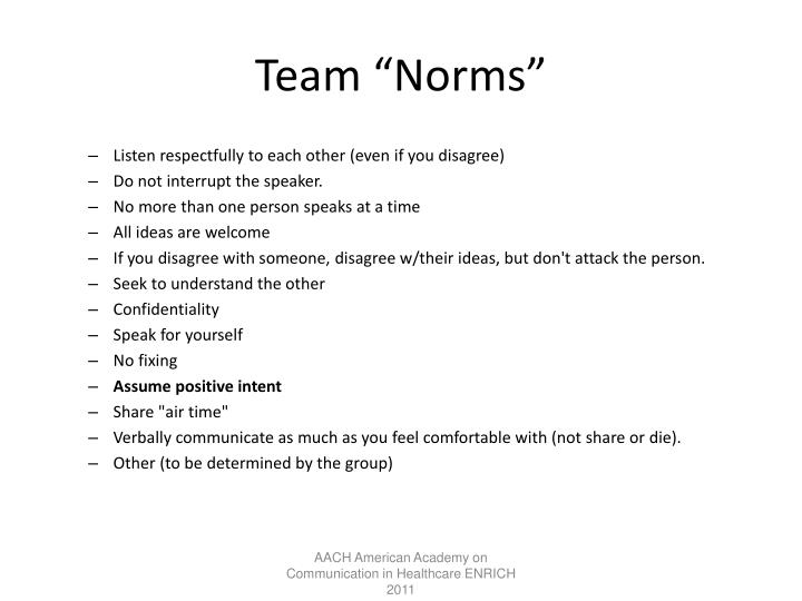 "Team ""Norms"""