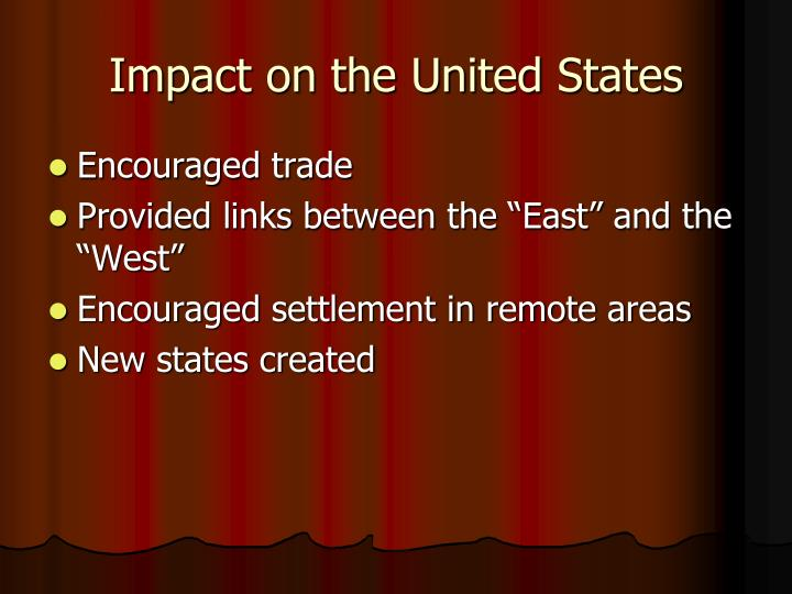 Impact on the United States