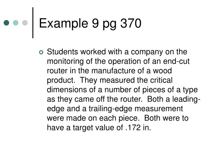 Example 9 pg 370