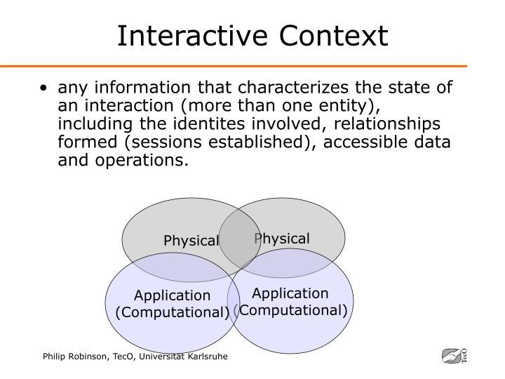 Interactive Context