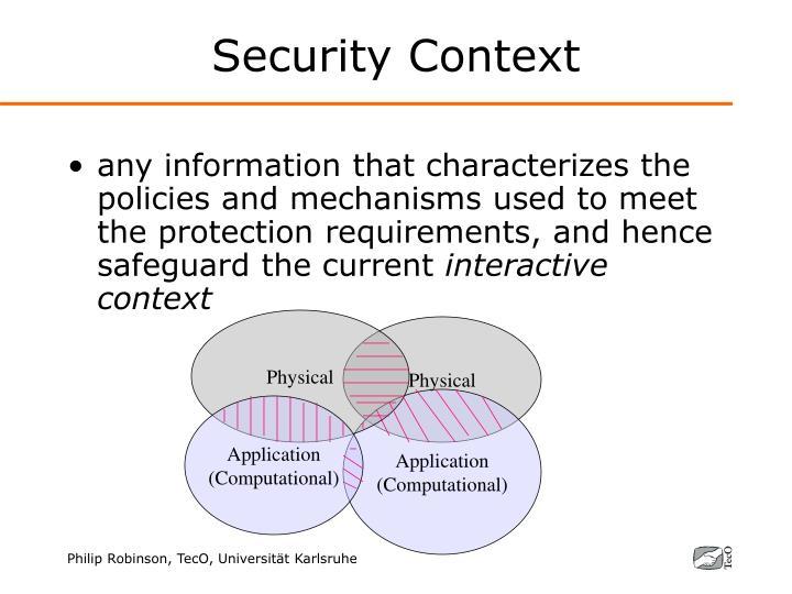 Security Context