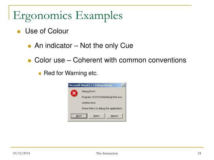 Ergonomics Examples