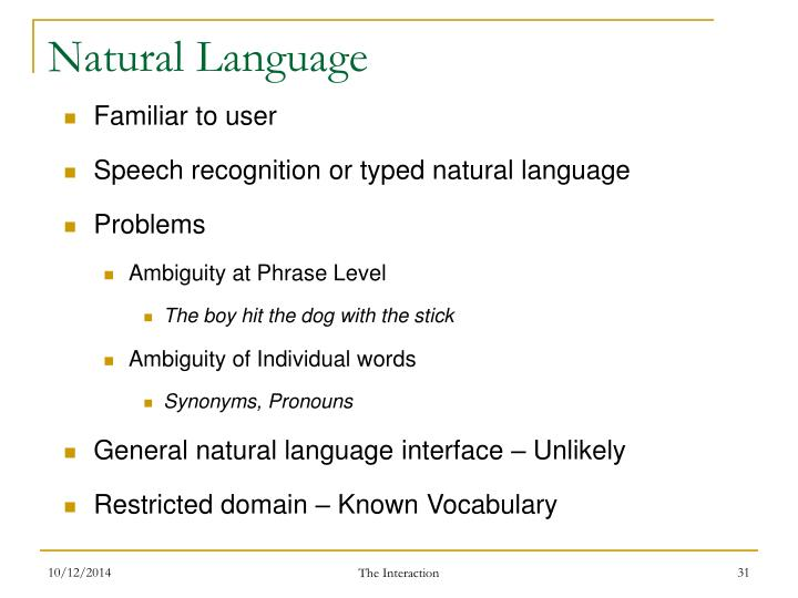 Natural Language
