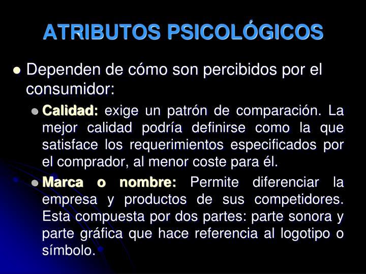 ATRIBUTOS PSICOLÓGICOS