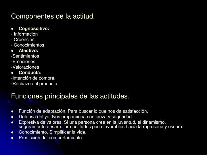 Componentes de la actitud