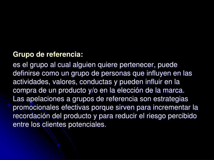 Grupo de referencia: