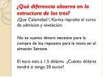 qu diferencia observa en la estructura de los tres