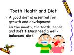 tooth health and diet