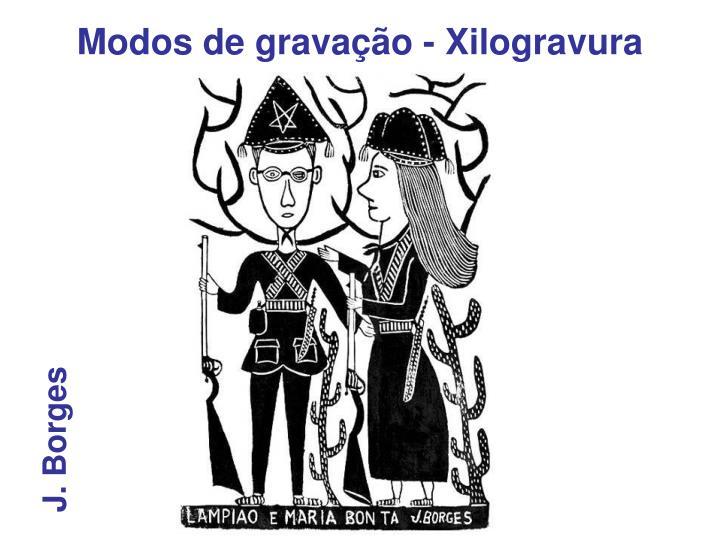 Modos de gravação - Xilogravura