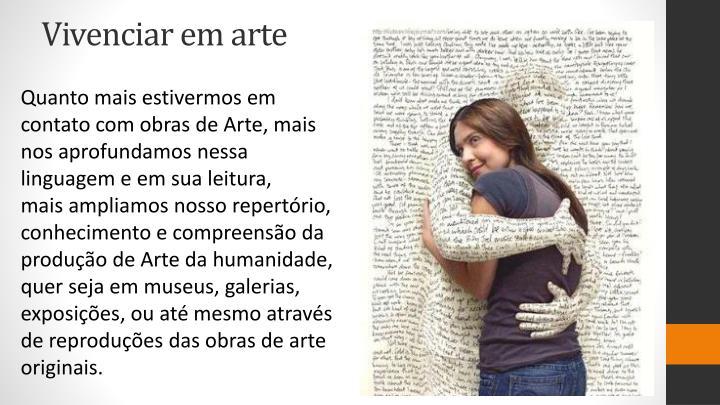 Vivenciar em arte