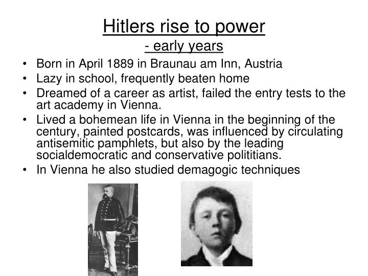 Hitlers rise to power early years