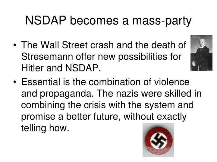 NSDAP becomes a mass-party