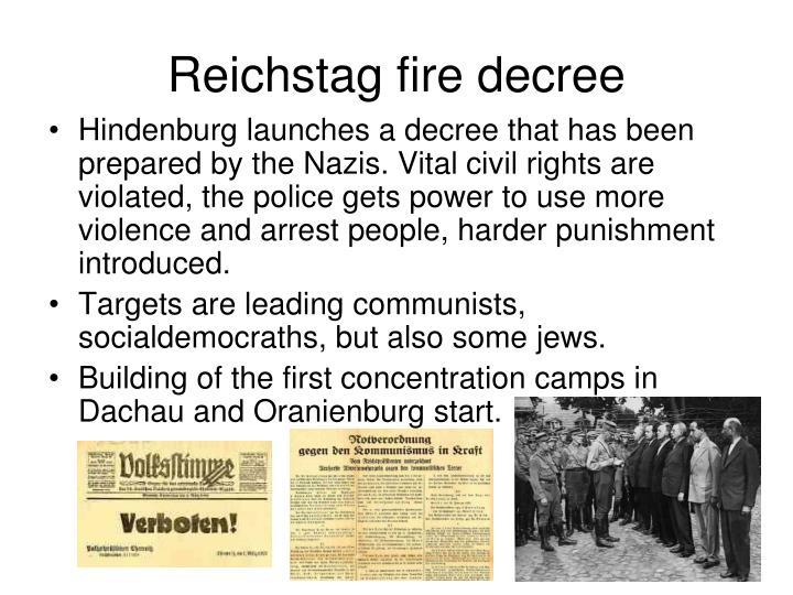 Reichstag fire decree
