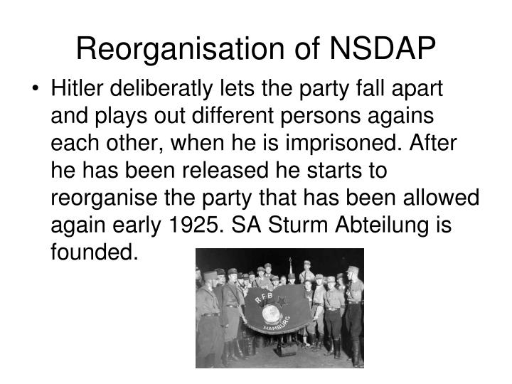 Reorganisation of NSDAP