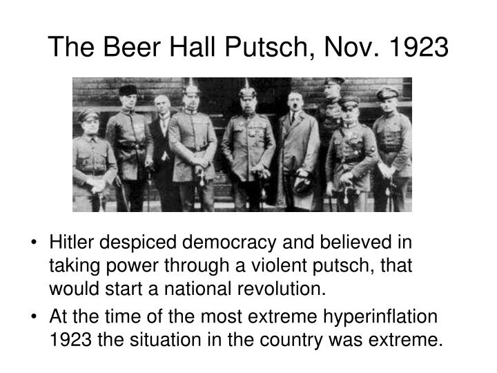 The Beer Hall Putsch, Nov. 1923