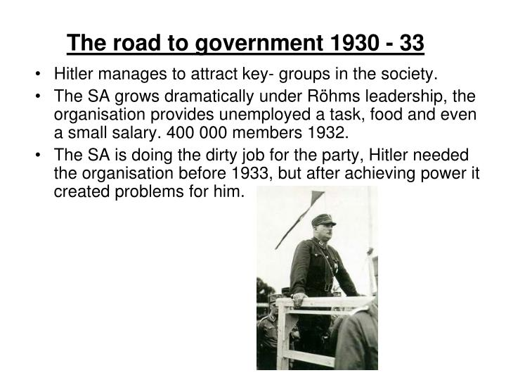 The road to government 1930 - 33