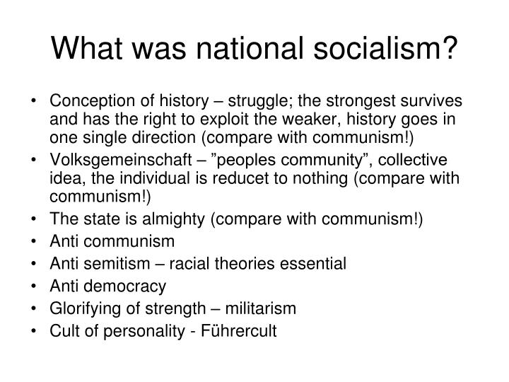 What was national socialism?
