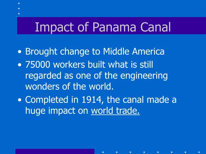 Impact of Panama Canal